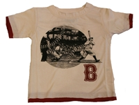 Boston Red Sox Destructed Ringer Tee
