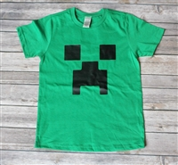 Minecraft Creeper Birthday Tee