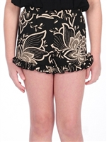 Floral Printed Shorts with Ruffle