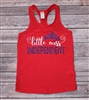 Little Miss Independent Racerback Tank