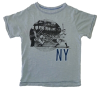 New York Yankees Destructed Ringer Tee