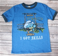 Smurf I Got Skills Tee by Junk Food